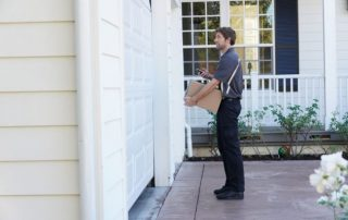 Use The Garage Door To Hold Your Packages 1