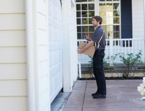 Use The Garage Door To Hold Your Packages